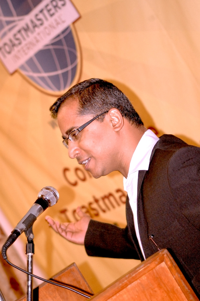 Founder President TM ACB Sivakumar sharing his Toastmasters Journey