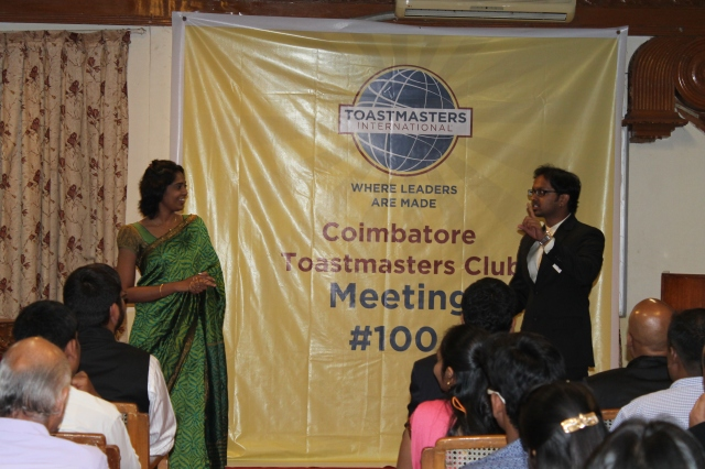 Toastmasters of the Day -TM Shantanu and TM Neethu