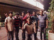 Naren, Me, Gopal, Hari, Anil and Shanthakumar. And of course that's Balaji :)